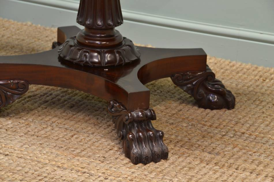 Magnificent Quality William IV Mahogany Antique Bridge Table / Games Table.