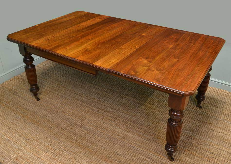 Rich, Warm Walnut, Antique Wind-Out Extending Dining Table.