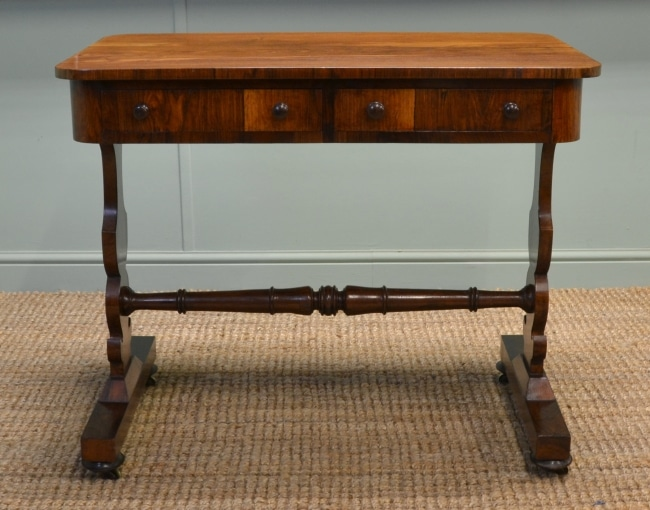 Quality Rosewood, Small Antique Hall Table / Side Table.