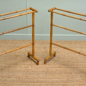 Unusual Pair of Faux Bamboo Antique Victorian Towel Rails.
