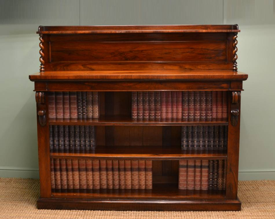 Rare Rosewood William IV Antique Bookcase / Sideboard.