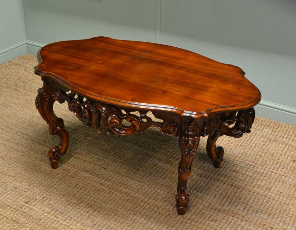Decorative Victorian Mahogany Antique Coffee Table Antiques World