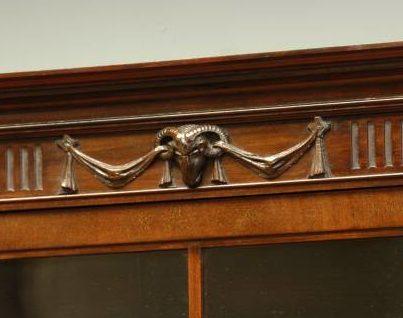 rams head carving