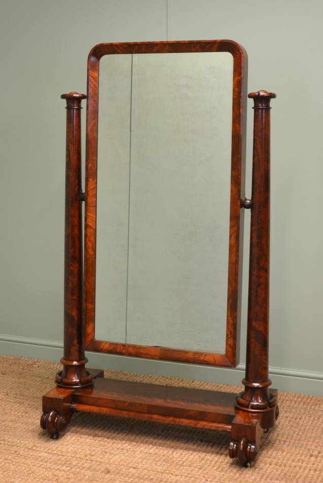 Antique cheval mirrors antiques world for Cheval mirror