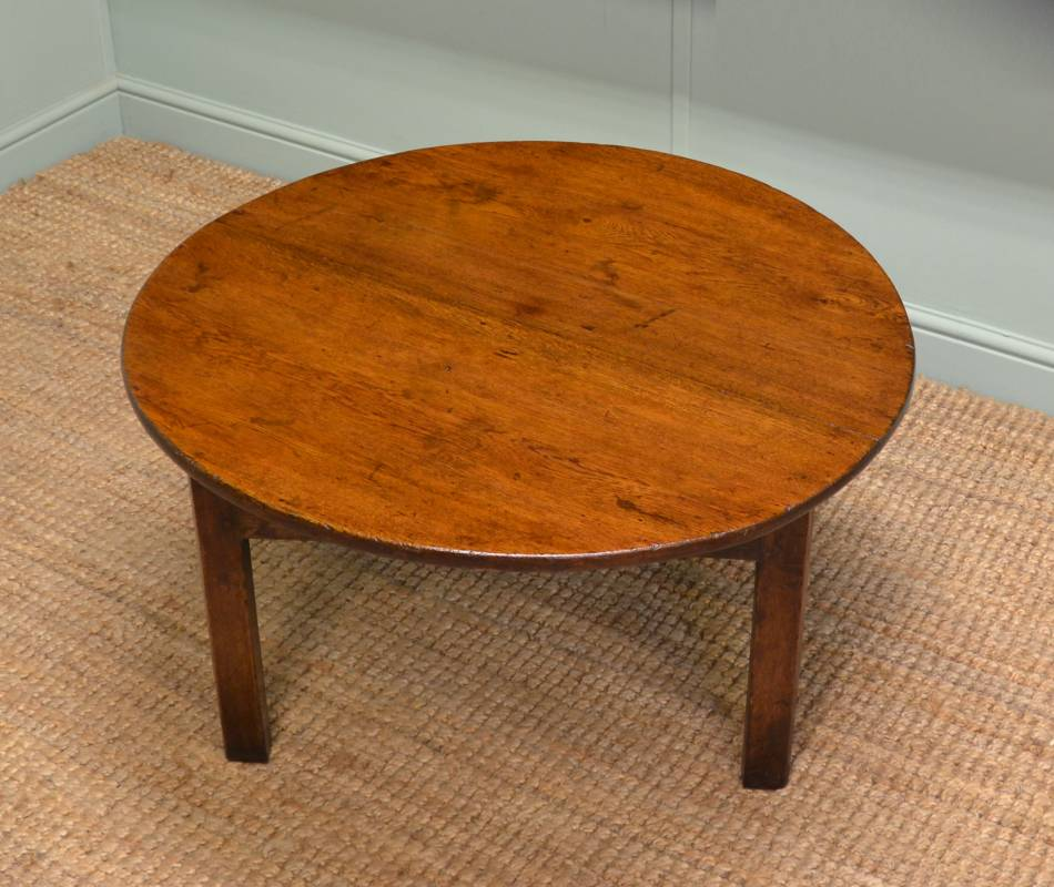 Period Oak Antique Coffee Table.