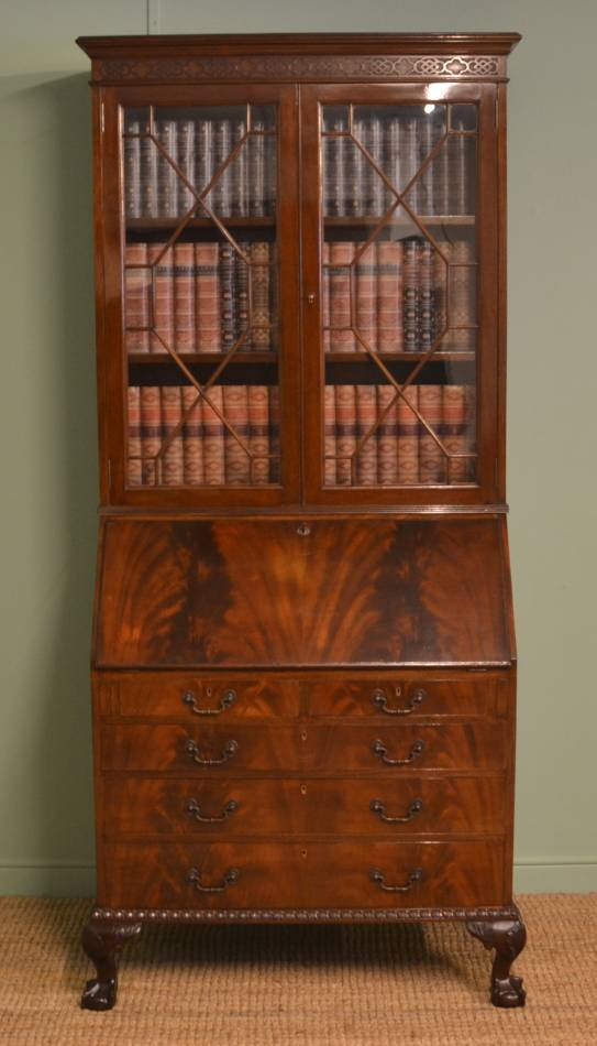 Mahogany Antique Bureau Bookcase