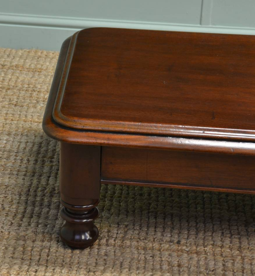 Victorian Mahogany Antique Coffee Table
