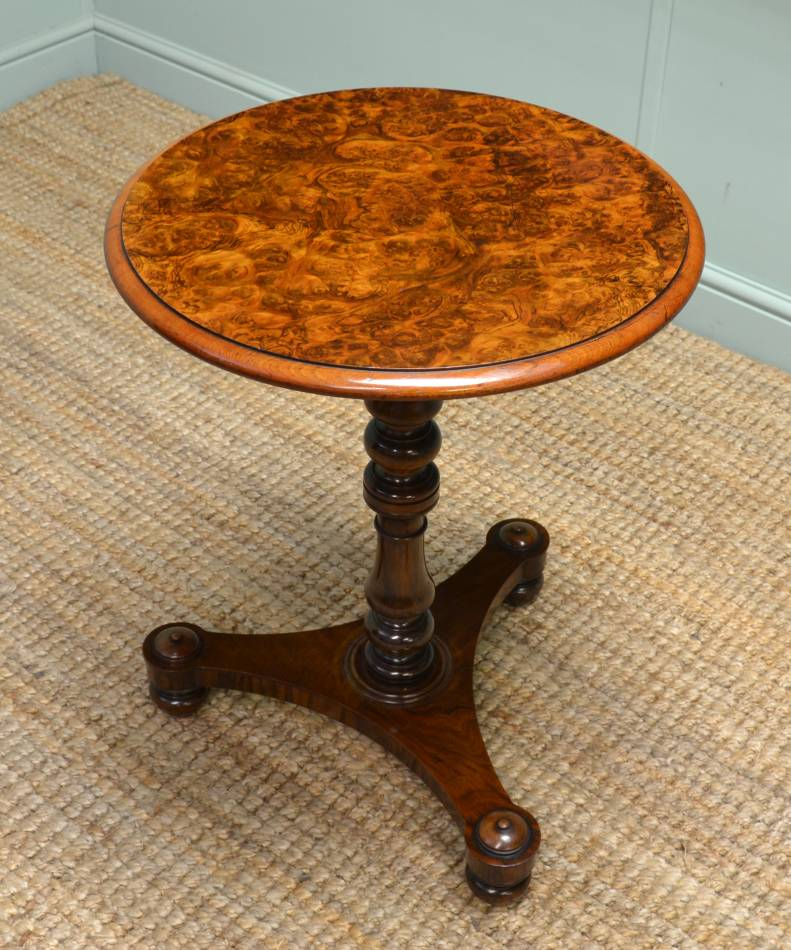 Finest Quality Small Burr Walnut Victorian Occasional Table