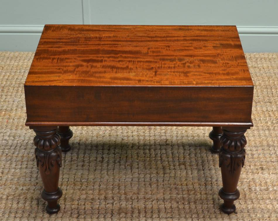 Rare William IV Antique Mahogany Coffee Table.