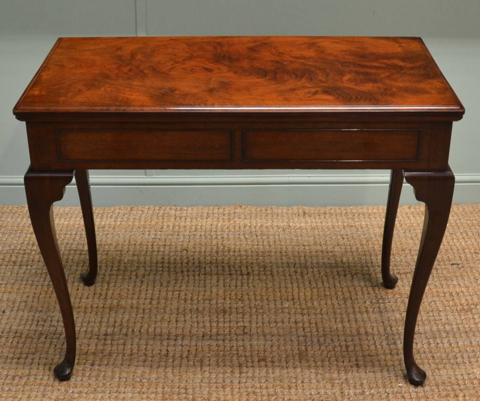 Stunning Quality, Edwardian, Figured Mahogany, Antique Games Table / Console Table.