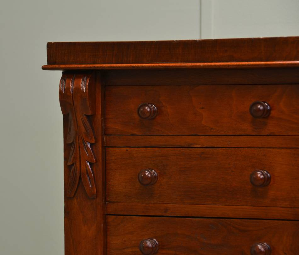 Attractive Victorian Walnut Antique Wellington Chest