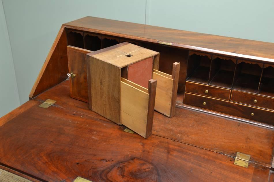 Antique Georgian Mahogany Bureau with Secret Compartments!