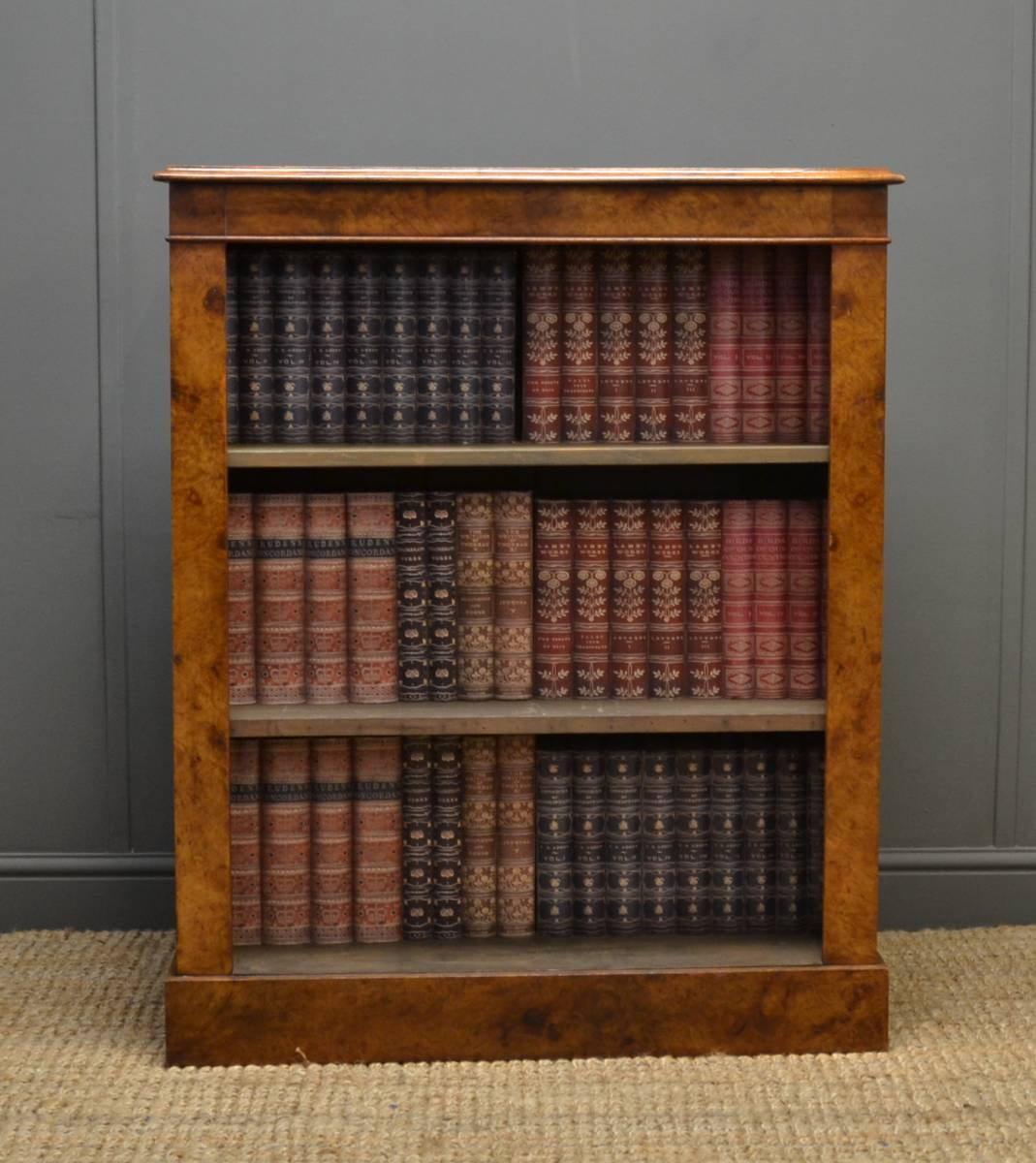 Spectacular, 'Burr' Pollard Oak, Antique Open Bookcase
