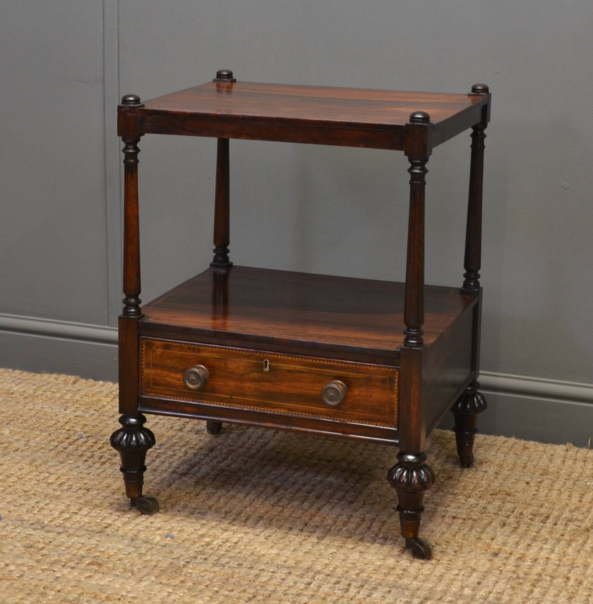 Quality Regency Rosewood Antique Side Occasional Table.