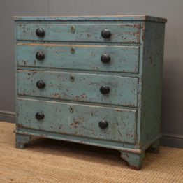 Rustic, Painted Georgian Antique Chest of Drawers.