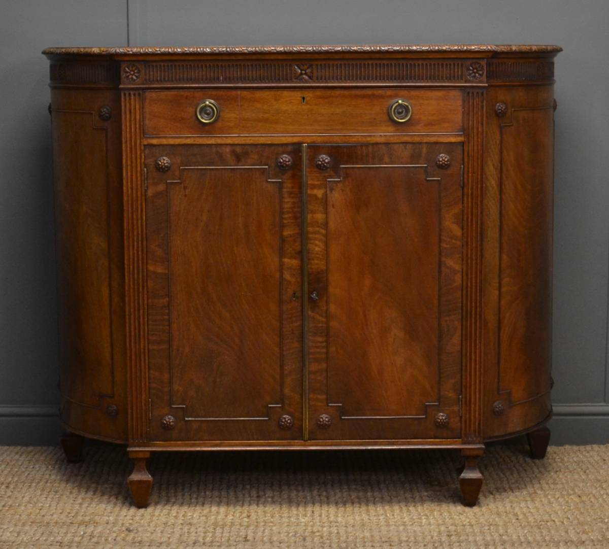 Edwardian Hepplewhite Design Mahogany Antique Cabinet / Cupboard