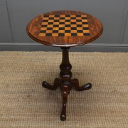 Quality Victorian Mahogany Antique Chess Top Table