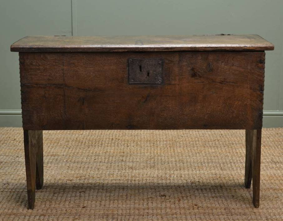 Rare Antique 17th Century Six Plank Oak Coffer.