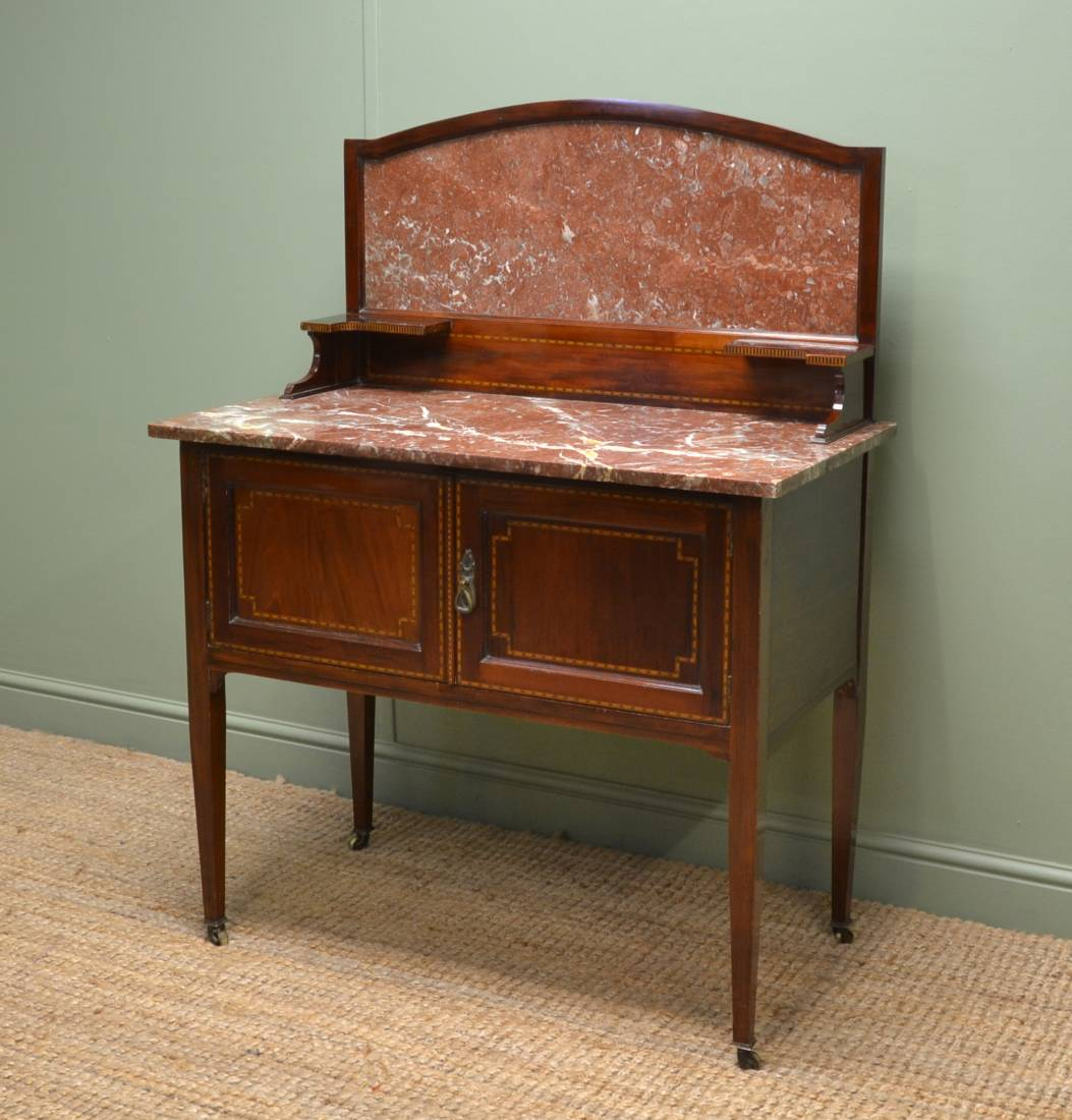 Antique Edwardian, Quality Mahogany Washstand by Maple & Co