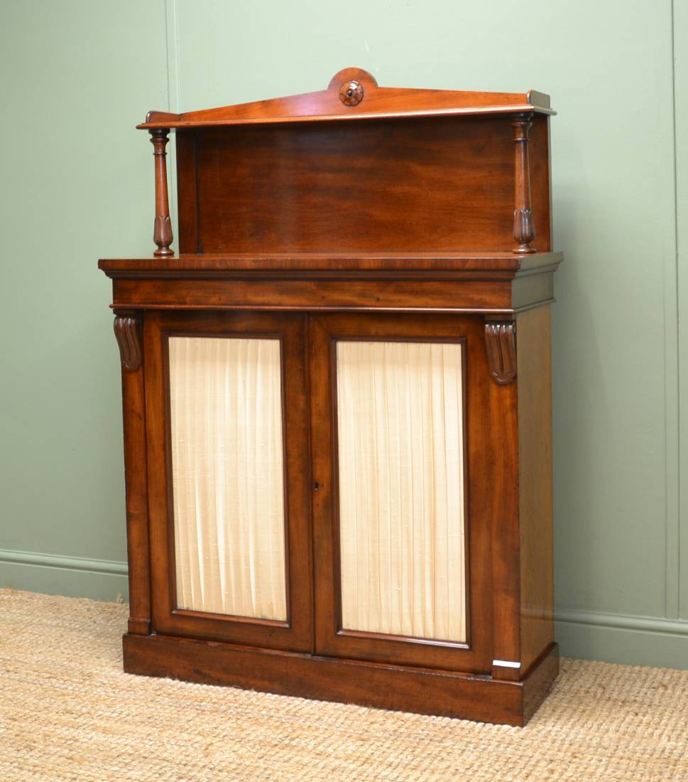 Quality Regency Mahogany Antique Chiffonier