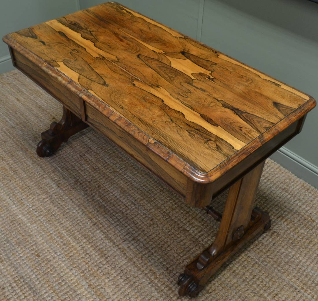 Antique Regency Madagascan Rosewood Side Table / Library Writing Table.