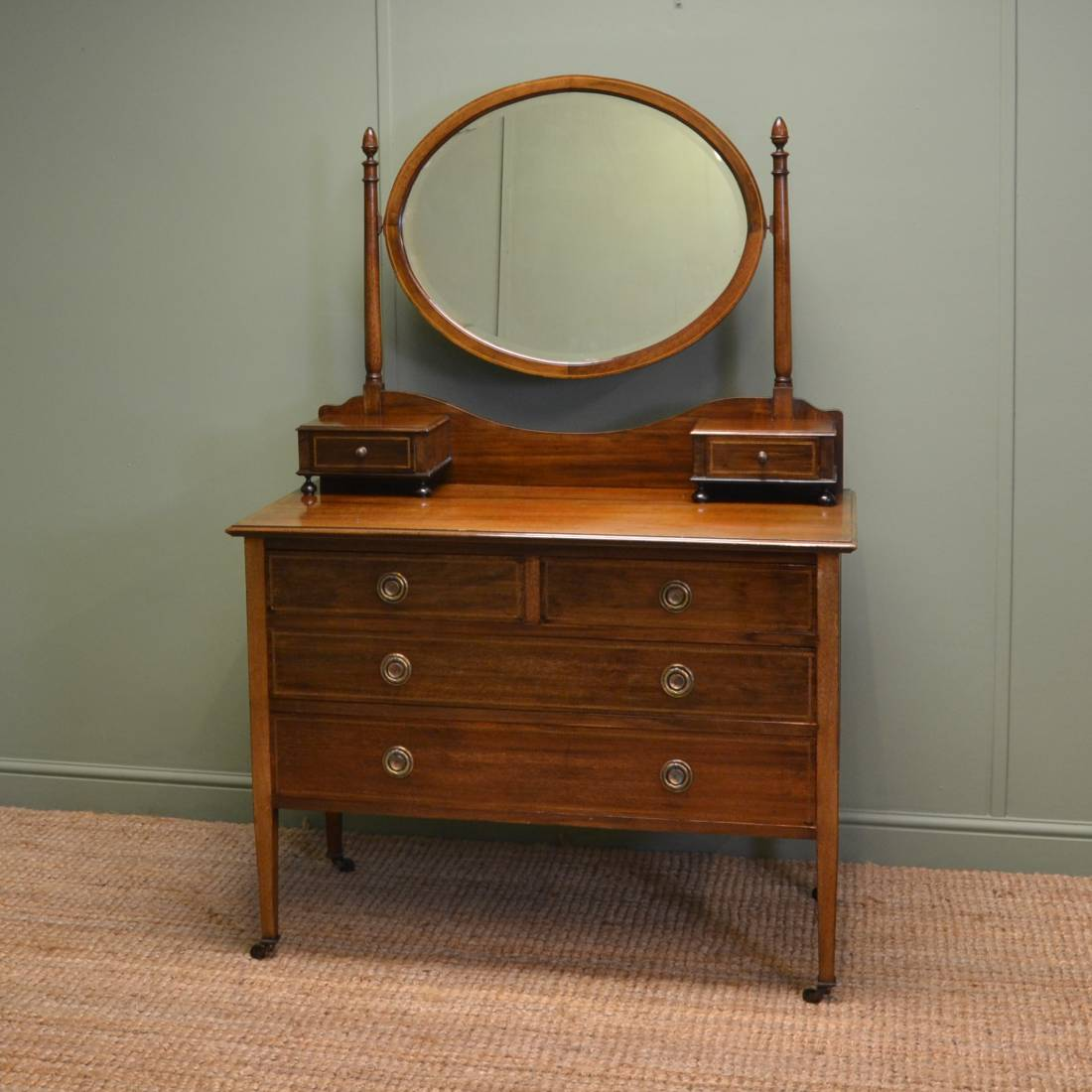 Edwardian mahogany antique dressing table antiques world