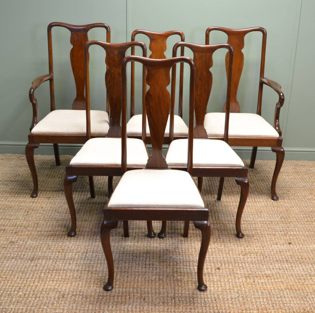 Fine Quality, Set of Six, Antique Mahogany Edwardian Dining Chairs.