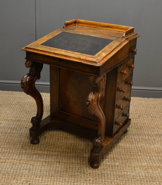 walnut davenport - Antique Davenport Desk - Antiques World