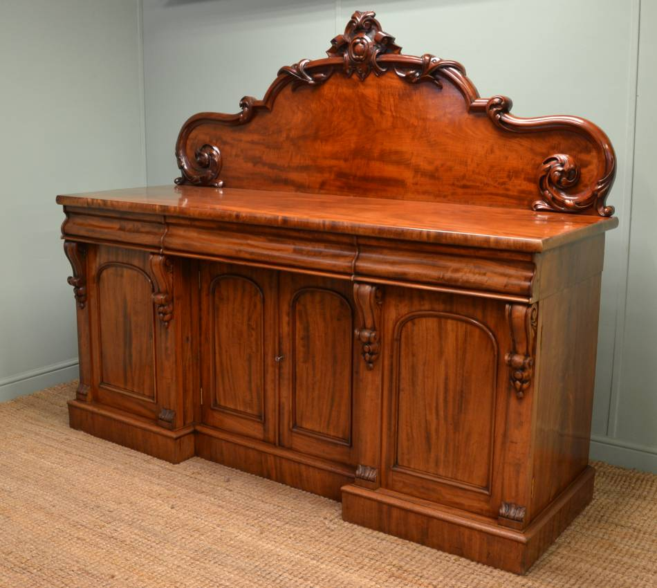 large superb quality victorian mahogany antique sideboard antiques world. Black Bedroom Furniture Sets. Home Design Ideas