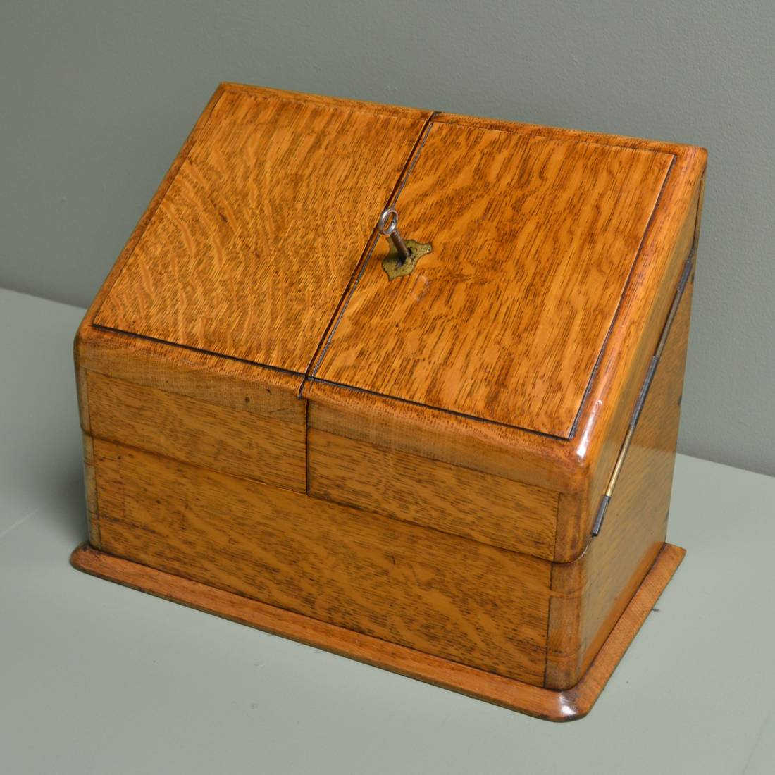 Antique tea caddies writing slopes small boxes