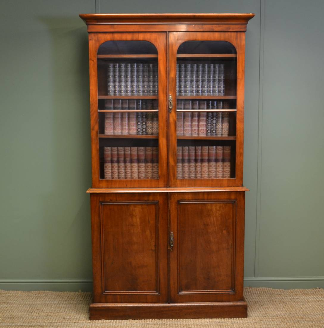 Quality Victorian 'Slimline' Antique Mahogany Bookcase.