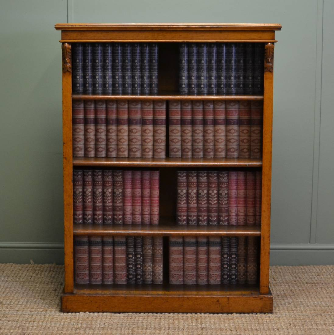 Golden Oak Antique Open Bookcase