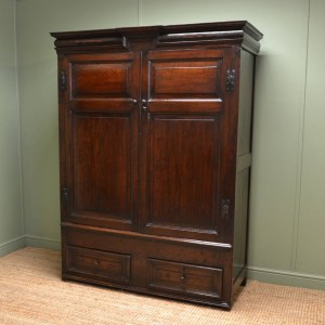 17th Century Period Oak Antique Harness Cupboard