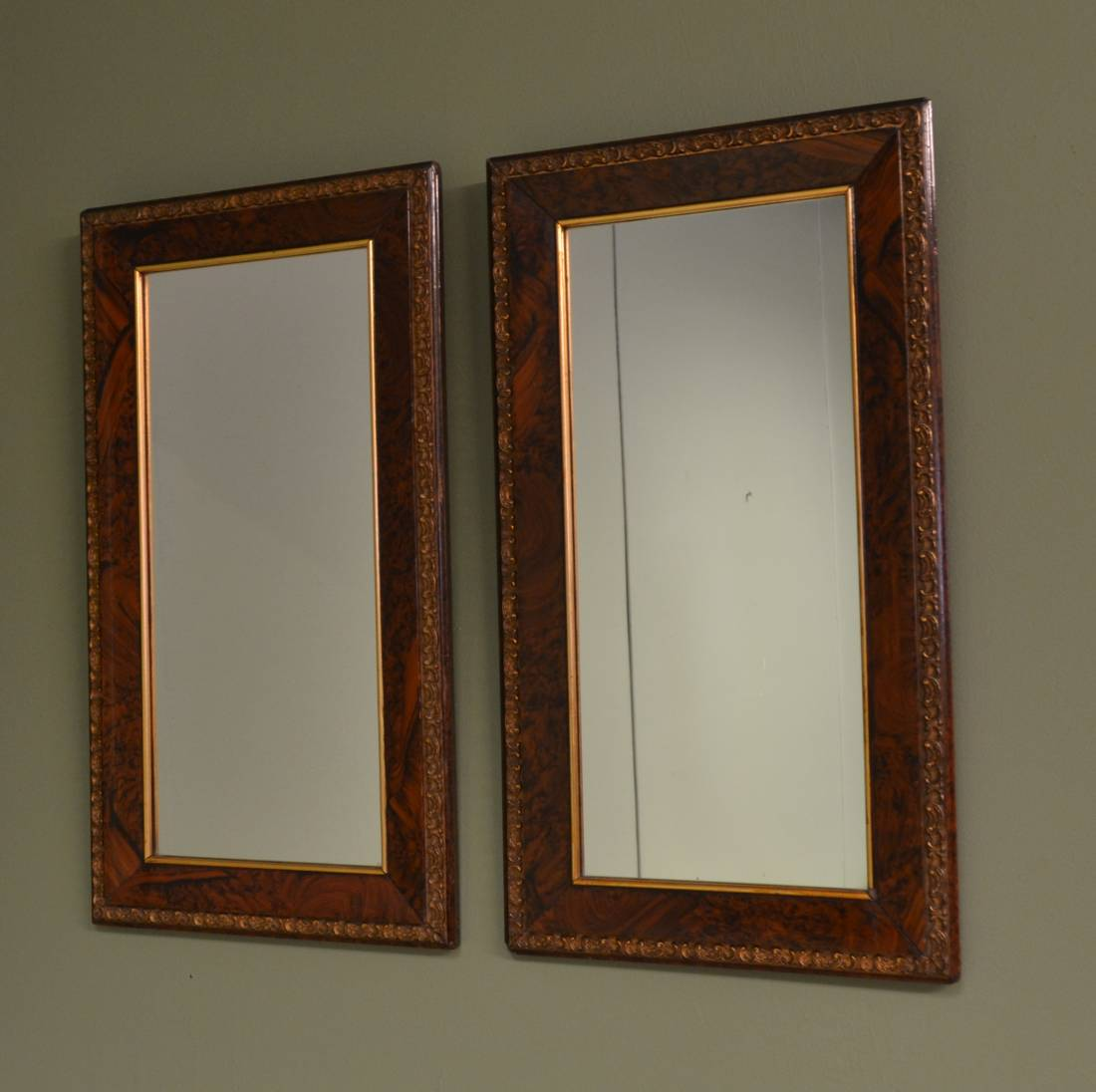 Pair of Antique Edwardian Decorative Mirrors
