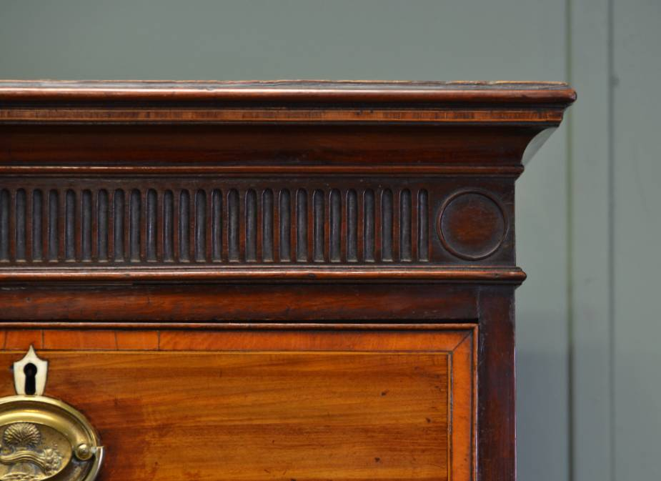 Quality Georgian Antique Mahogany Chest on Chest with Cross Banding