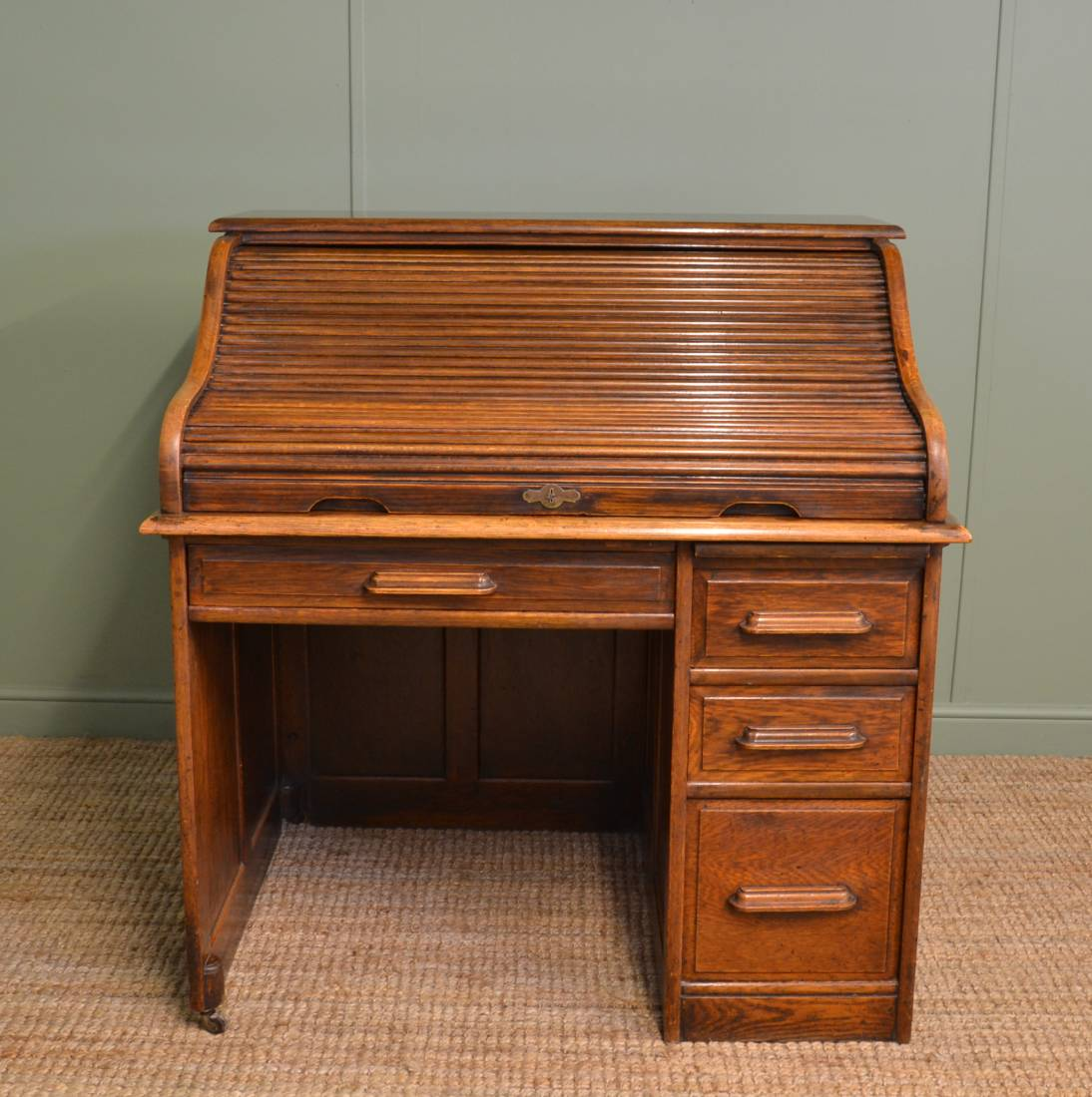 Small Antique Roll Top Desk Antique Furniture