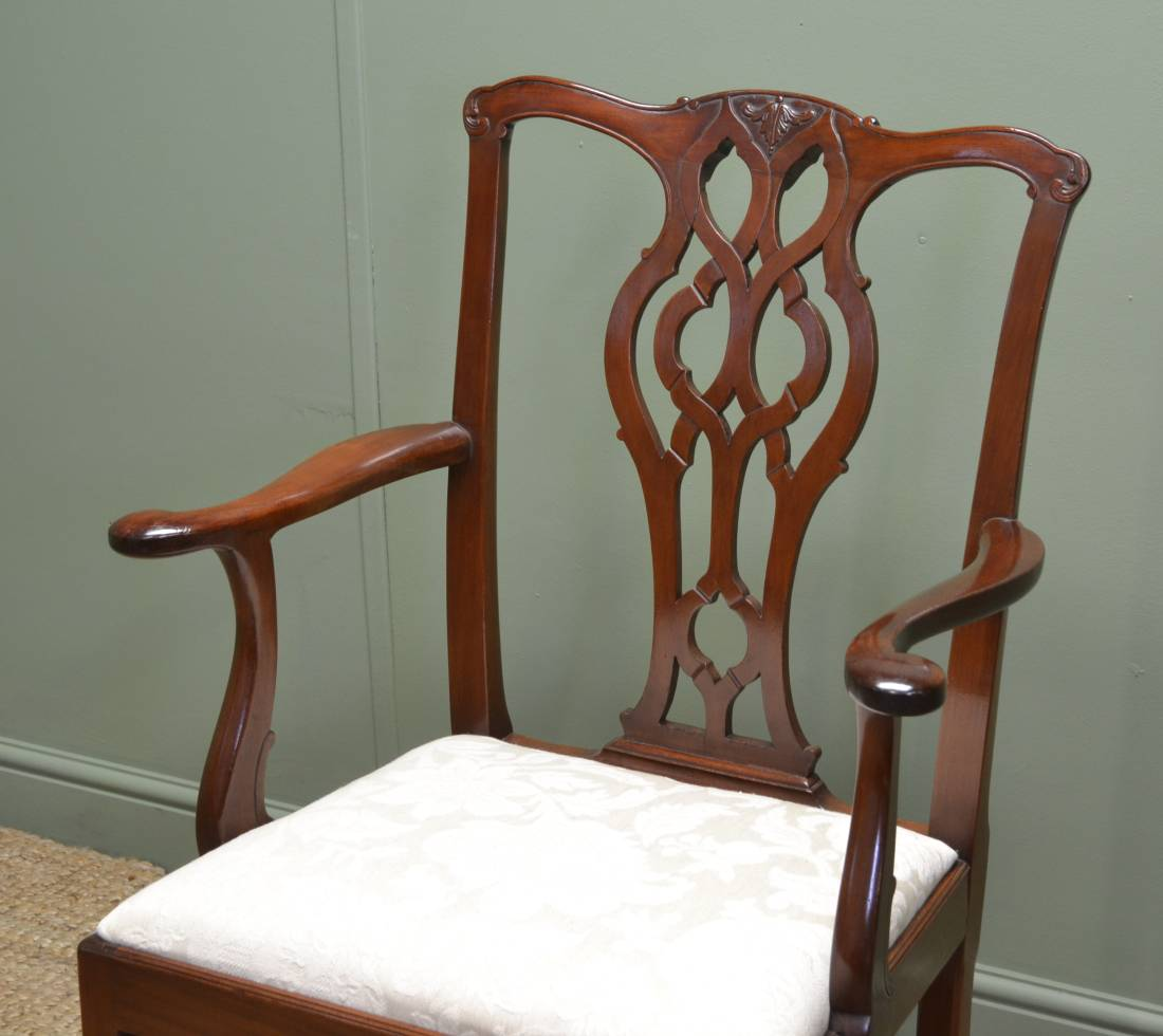... Magnificent Set of Twelve Antique Chippendale Style Dining Chairs ... - Chippendale Chairs - Antiques World