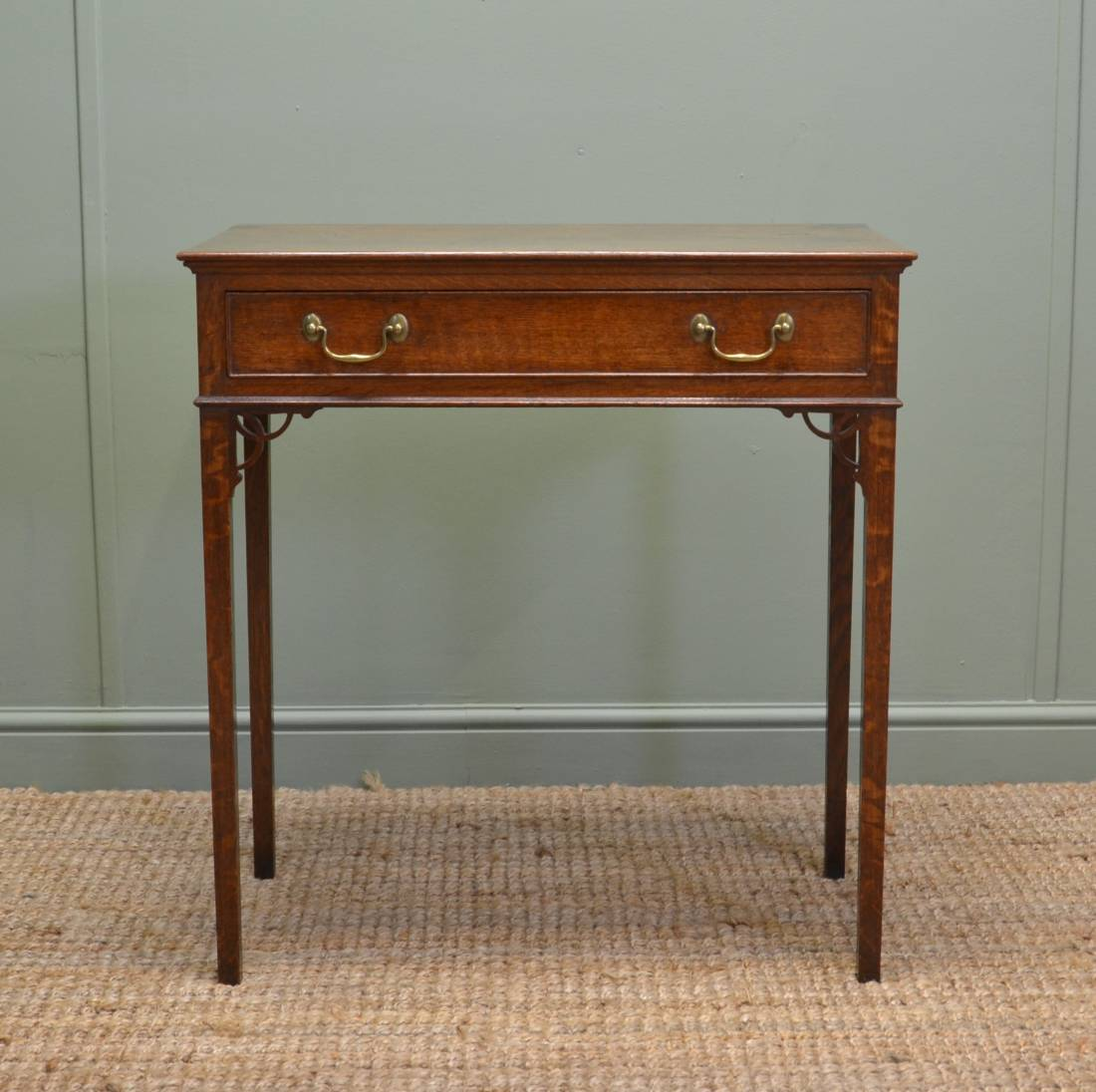 Oak Antique Telephone Table / Hall Table full of charm and character.
