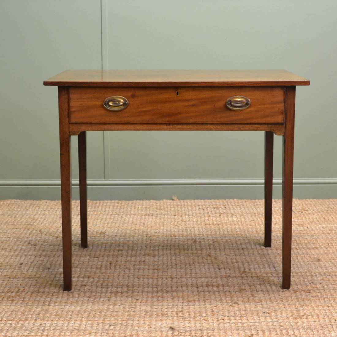 Country Georgian Antique Mahogany Side Table.