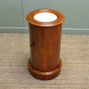 Unusual Mahogany Antique Cylindrical Cupboard.