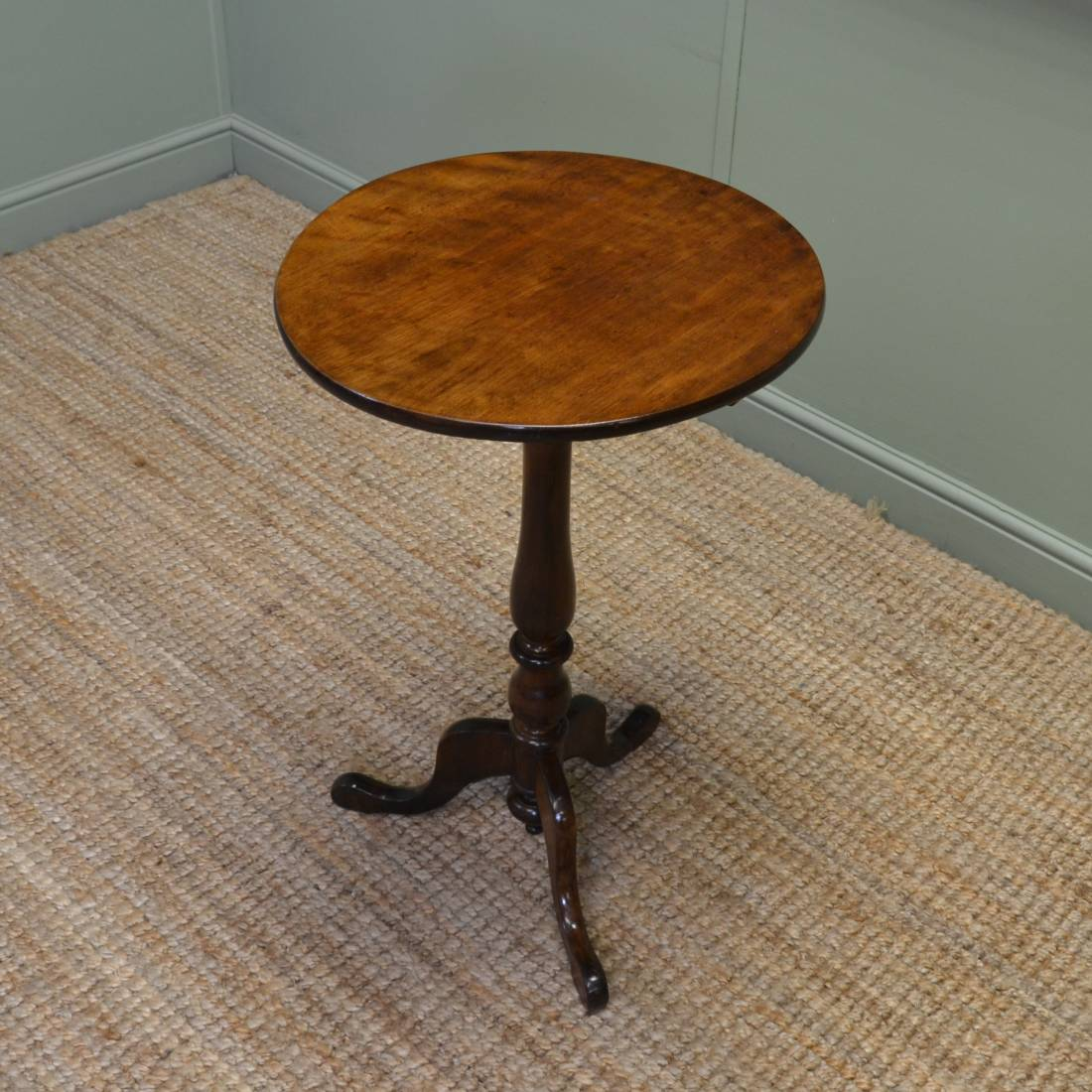 Victorian Walnut Circular Antique Occasional Table.