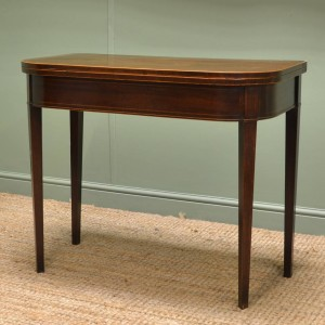 Antique Georgian Mahogany 'D' End Games Table / Console Table.