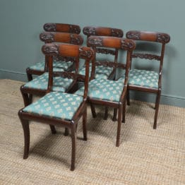 Set of Six Regency Mahogany Antique Dining Chairs