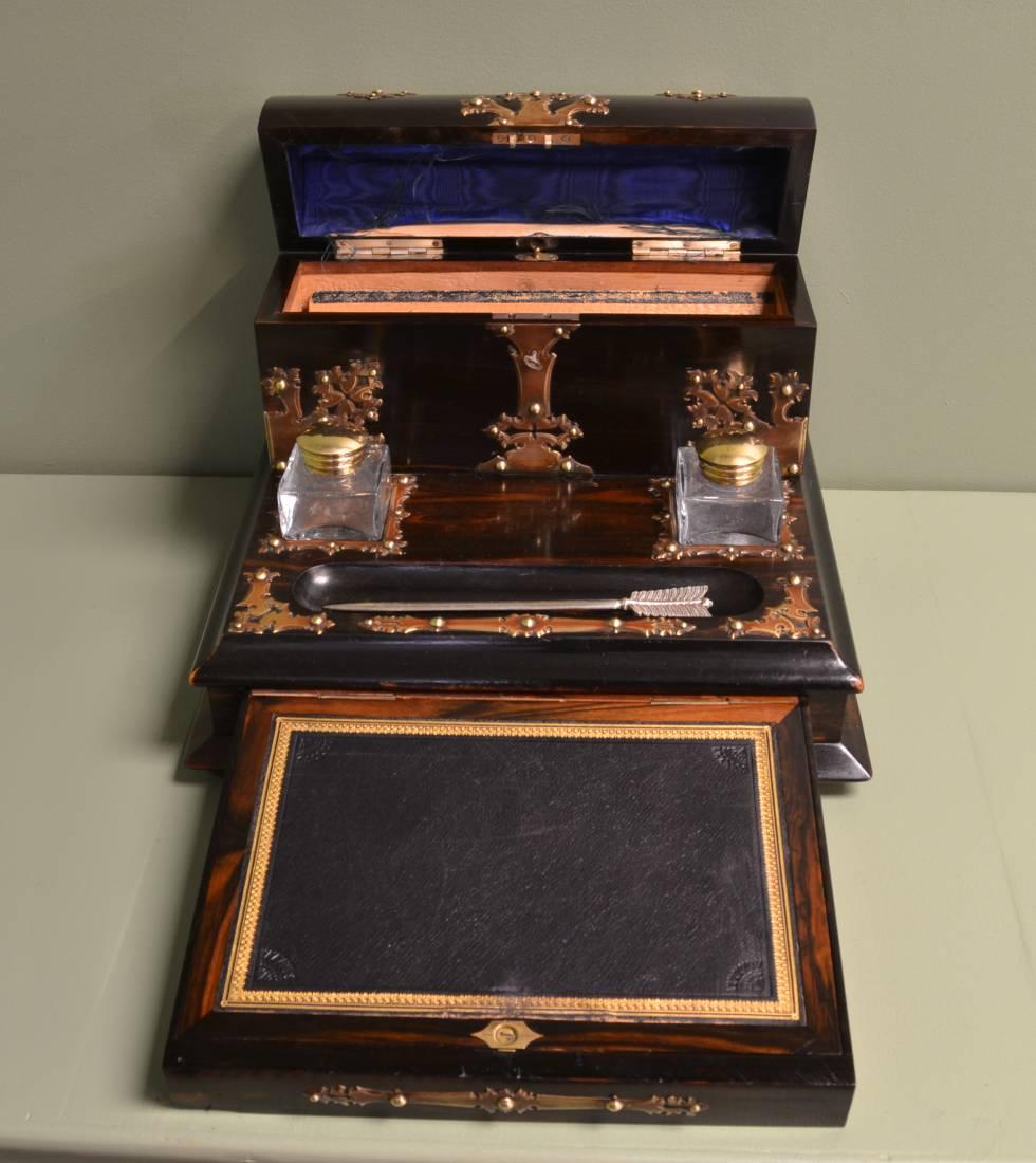 Unusual Victorian Coromandel Antique Desk Stand