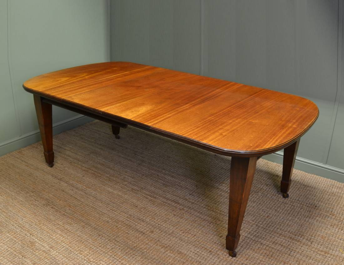 Edwardian Mellow Mahogany Antique Wind Out Dining Table