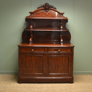 Superb Quality Large Mahogany Antique Sideboard / Dresser