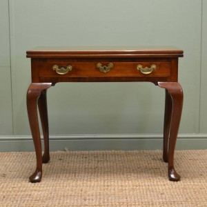 Georgian Antique Mahogany Console Table / Tea Table