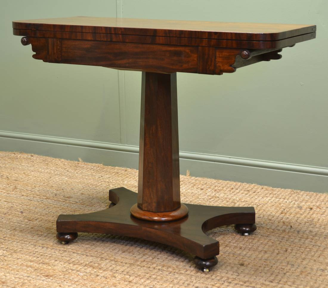 Fine Quality Regency Mahogany Antique Bridge Table / Games Table.