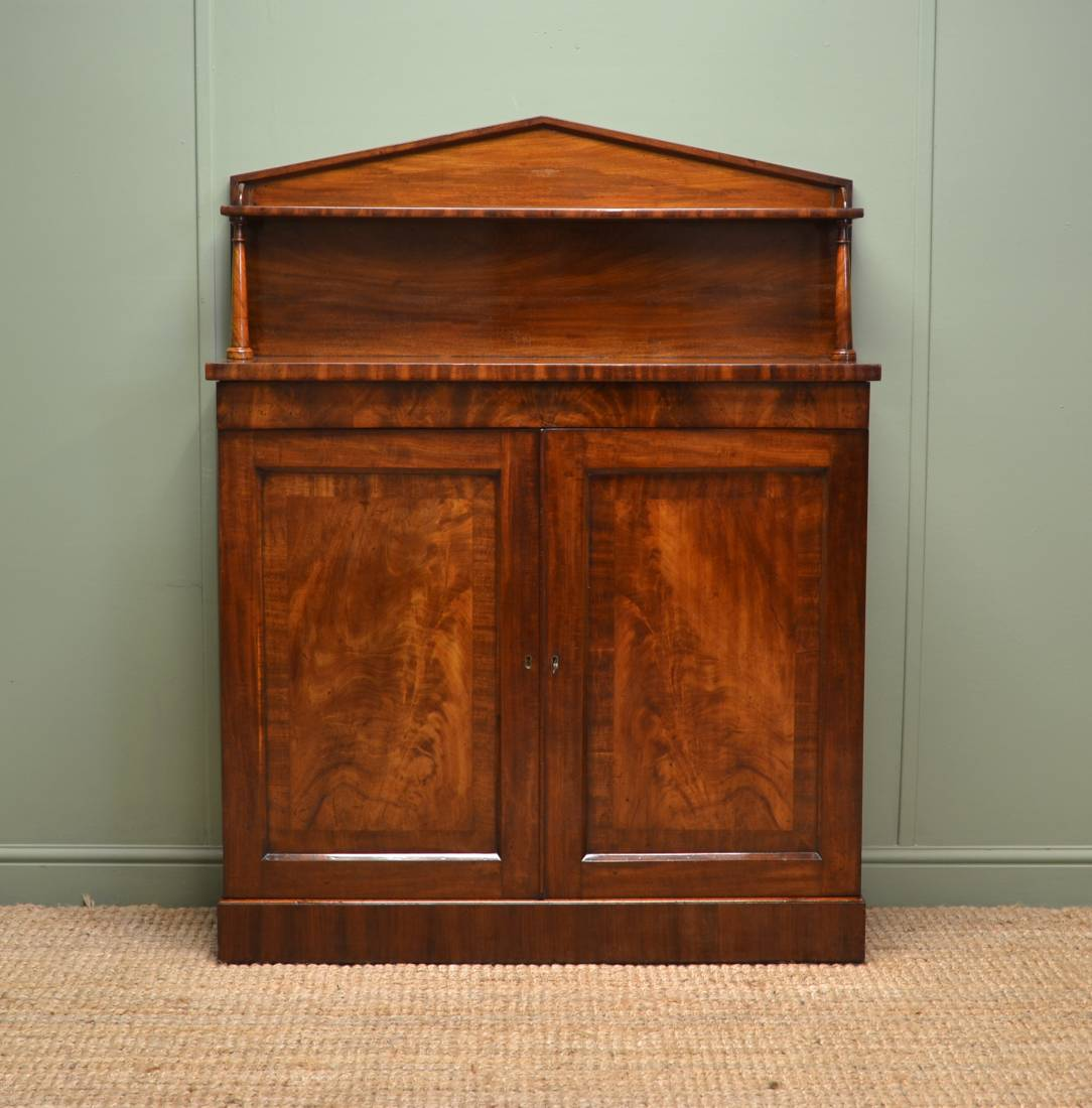 Regency Mahogany Antique Chiffonier / Cupboard.