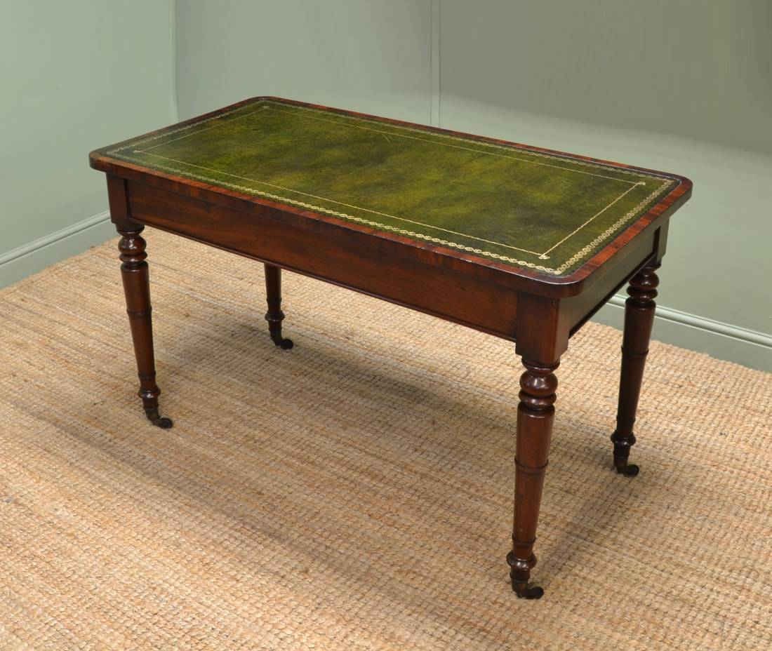 Fine Regency Mahogany Antique Writing Table / Library Table